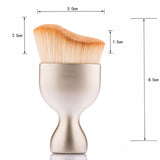 1 PCS New S-Shape Multi-functional Brush Contour Foundation Cream Loose Powder Brush Synthetic Hair