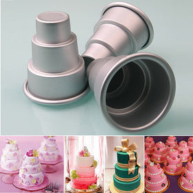 Special Pudding Mould DIY Mini 3-Tier Cupcake Pudding Chocolate Cake Mold Baking Pan Mould Party Food kitchen accessories