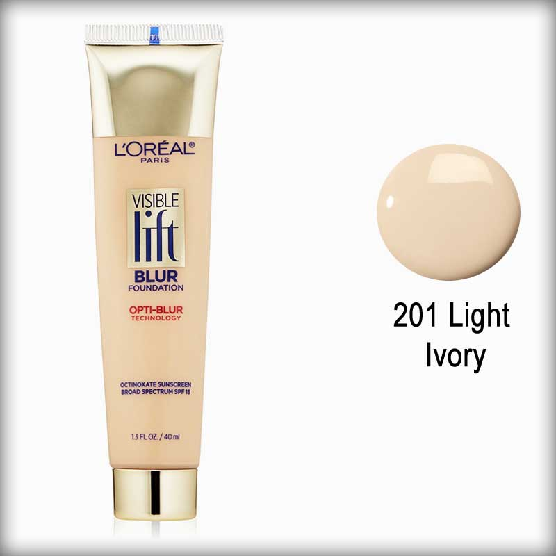 201 Light Ivory Visible Lift Blur Foundation - L'Oreal Paris