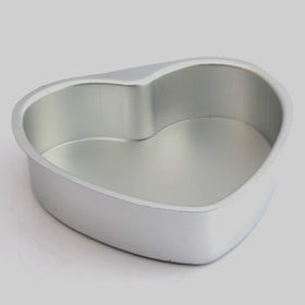 New Aluminium Heart Shaped Fondant Cake Biscuit Baking Mold Wedding Pan Tins Muffin Christmas Gift 6LPS