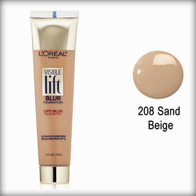 208 Sand Beige Visible Lift Blur Foundation - L'Oreal Paris