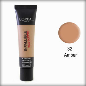 32 Amber Infallible 24H-Matte Mattifying Foundation - L'Oreal Paris