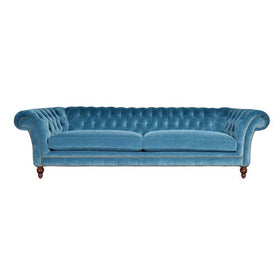 Touchwood Interior 3 Seater Suede Velvet Fabric Sofa 4