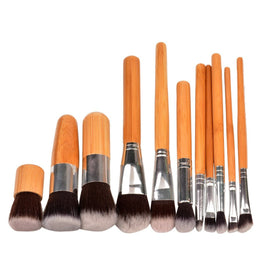 Bamboo Handle Makeup Brushes Set Online Shopping in Pakistan