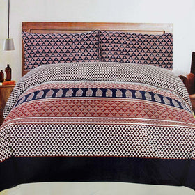 beautiful-triangle-design-cotton-bedsheet