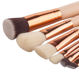 Fashion Soft Fiber Professional 8-Piece Brushes Set
