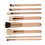Fashion Soft Fiber Professional 8 Piece Brushes Kit