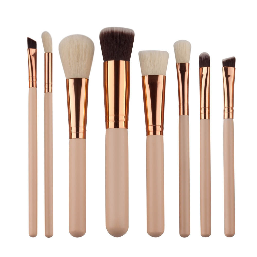 Fashion Soft Fiber Professional 8 Piece Brushes Set