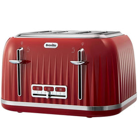 Breville Uk Impressions 4 Slice Toaster - Red Uk