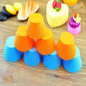 5pcs/lot cooking tools cake tools Round shape Silicone cupcake Muffin Cases Cake Cupcake Liner Baking Mold kitchen accessories