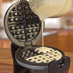 Cooks Professional Premium Electric Rotary Waffle Maker 180° Rotating - Grey