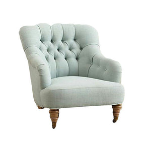Touchwood Interior Suede Velvet Fabric Armchair
