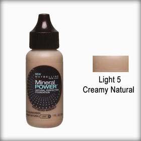 Light 5/Creamy Natural Mineral Power Foundation - Maybelline