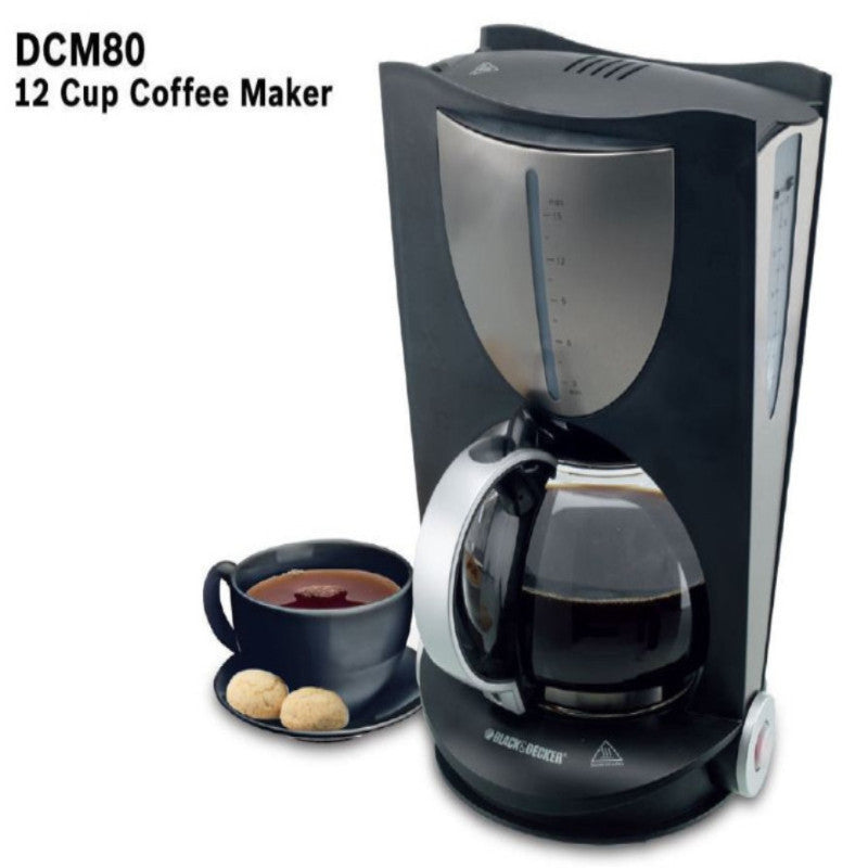 DCM-80-Black-&-Decker-Cofee-Maker-12-Cups-1050-Watt