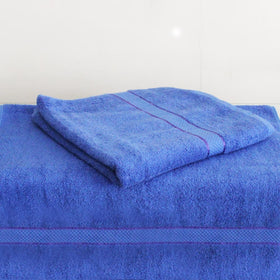 Egyptian Cotton Towel Blue Set of 2