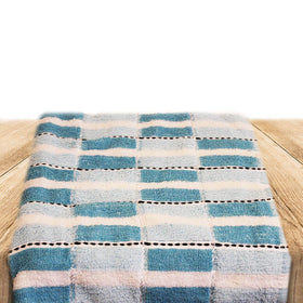 Egyptian Cotton Towel Faded & Light Blue Set of 2