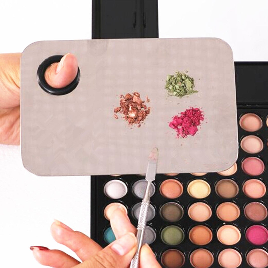 Beauty Stainless Makeup Nail Eye Shadow Mixing Palette Spatula Cosmetic Tool