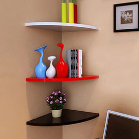 Touchwood Interior Floating Corner Shelves