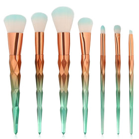 Gold Green 7Pcs Makeup Brushes price in Pakistan