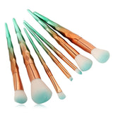 Gold Green 7Pcs Makeup Brushes online in Pakistan