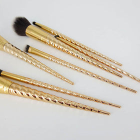 Gold Unicorn Makeup Brushes Brush Set