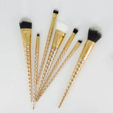 Gold Unicorn Makeup Brushes Brush Set 7 Pieces