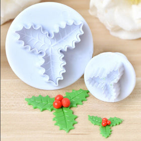 2 Pcs Set Leaf Shape Cake Decorate Cutter Fondant Sugar Craft DIY Cooking