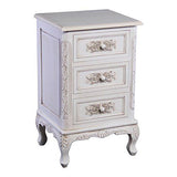Touchwood Interior Hand-Carved Hardwood 3-Drawer End Table