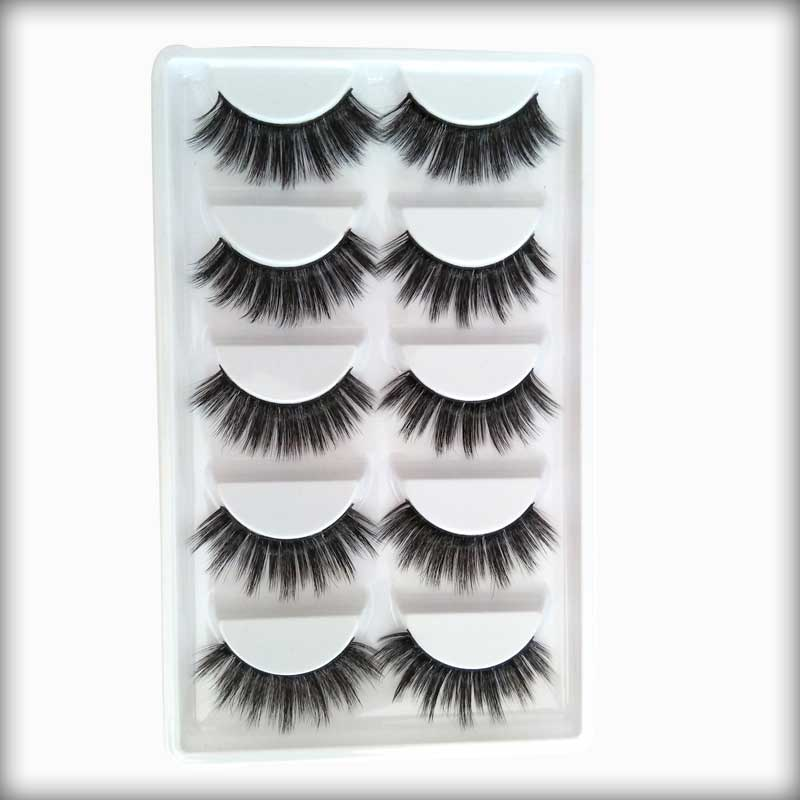 (5 Pair) HomeBazar Silk Eyelashes