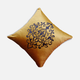 Cushion Cover 16'' X 16'' Polyester Decorative Pillow Digital Printing Style Letter Sofa Decor - HomeBazar.pk