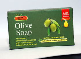 Merko Essential Olive Soap For Softness, Soothing and Firming skin