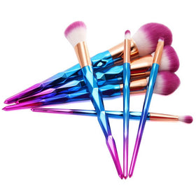 KONMISON Rainbow Hair Diamond Cosmetic Makeup Brushes Set Foundation Eye shadow Blusher Powder Unicorn Blending Makeup Brushes