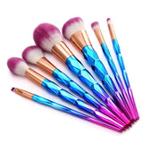 KONMISON Rainbow Hair Diamond Cosmetic Makeup Brushes Set Foundation Eye shadow Blusher Powder Unicorn Blending Makeup Brush Set