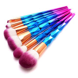 KONMISON Rainbow Hair Diamond Cosmetic Makeup Brushes Kit