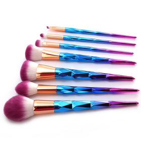 KONMISON Rainbow Hair Diamond Cosmetic Makeup Brushes Set