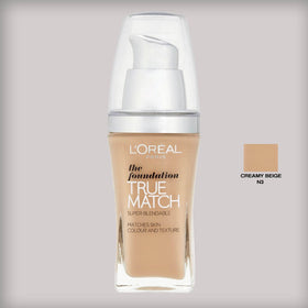 L'Oreal Paris True Match Foundation N3 Creamy Beige