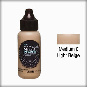 Medium 0/Light Beige Mineral Power Foundation - Maybelline