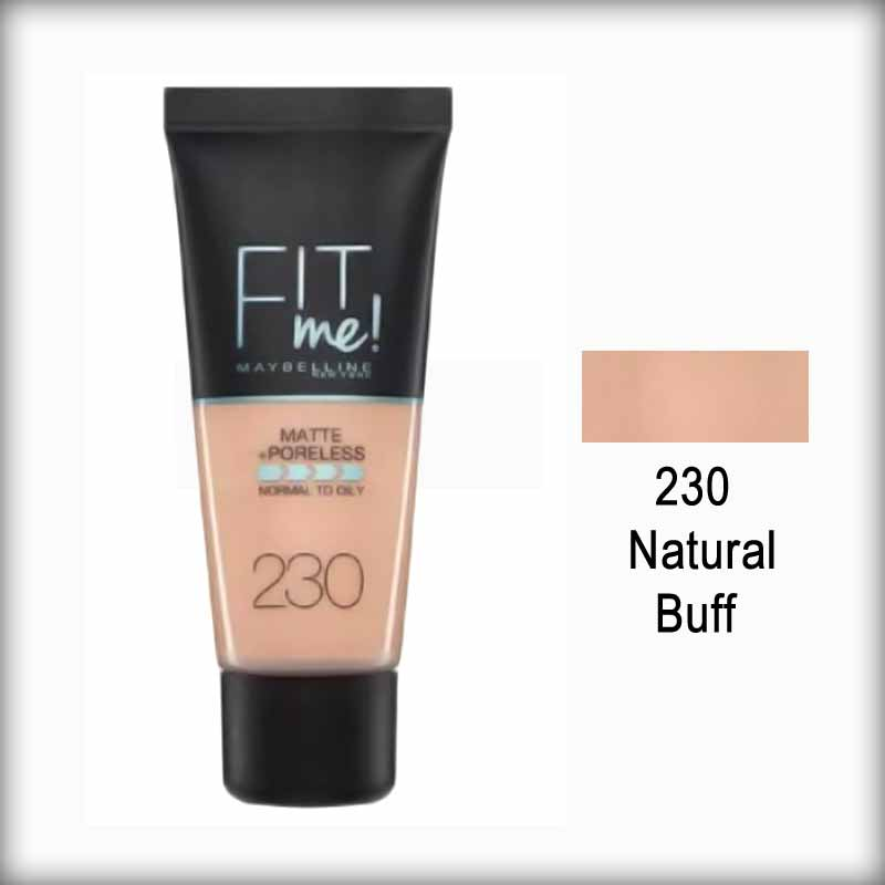 Maybelline Fit Me! Matte Poreless Foundation 230 Natural Buff
