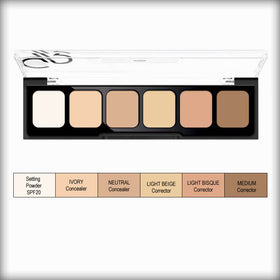Golden Rose Correct & Conceal Cream Palettes #1 Light to Medium