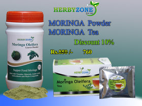Herbyzone Moringa Powder and Moringa Tea