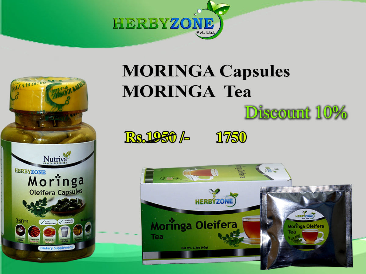 Herbyzone Moringa Capsules and Moringa Tea