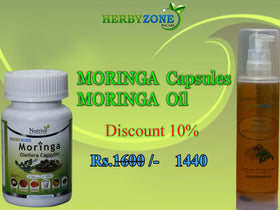 Herbyzone Moringa Capsules and Moringa Oil