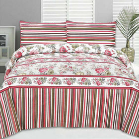 multi-color-lining-floral-cotton-bedsheet