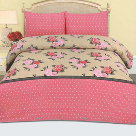 new-design-dot-floral-cotton-bedsheet