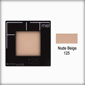 Nude Beige 125 Fit Me Pressed Face Powder - Maybelline