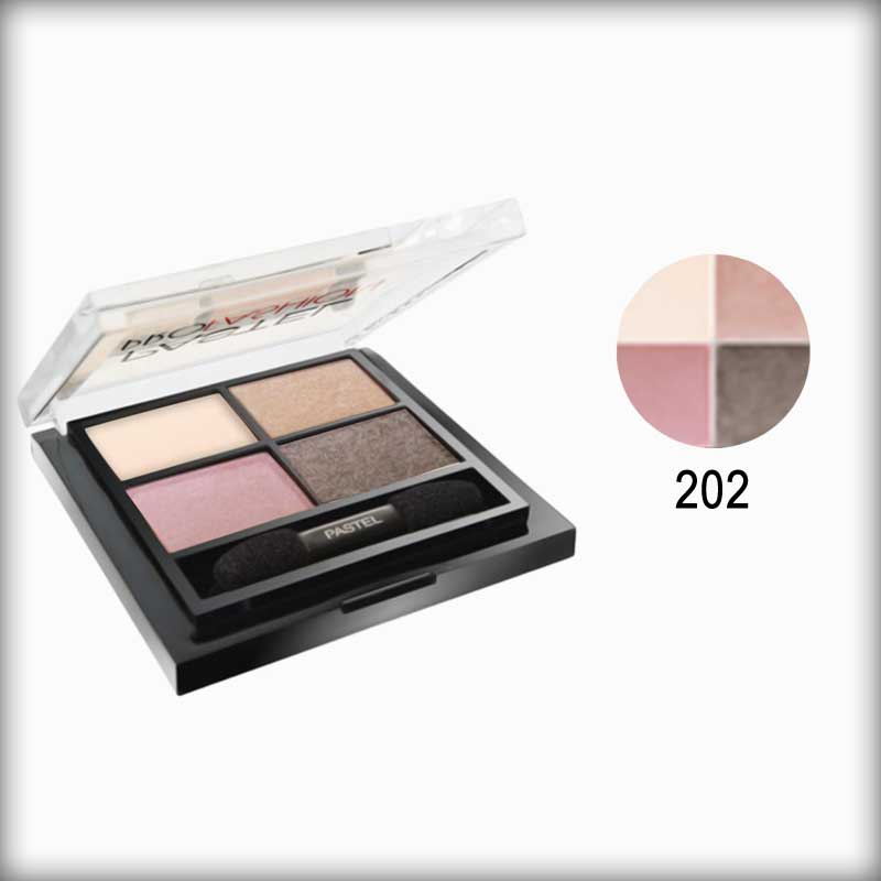 Pastel Pro Fashion Quad Multicolor Eyeshadow Palette 202