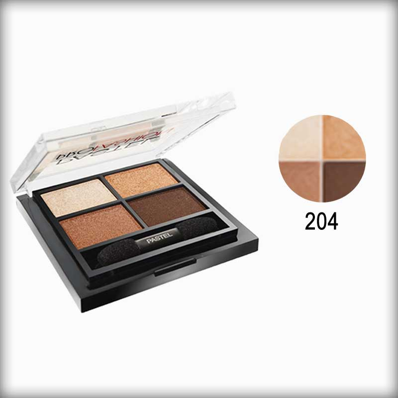 Pastel Pro Fashion Quad Multicolor Eyeshadow Palette 204