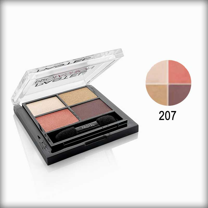 Pastel Pro Fashion Quad Multicolor Eyeshadow Palette 207