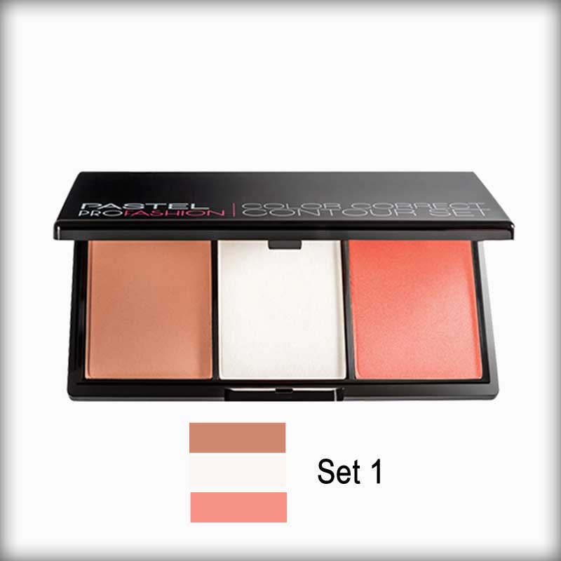 Pastel Profashion Color Correct Contour Set 01