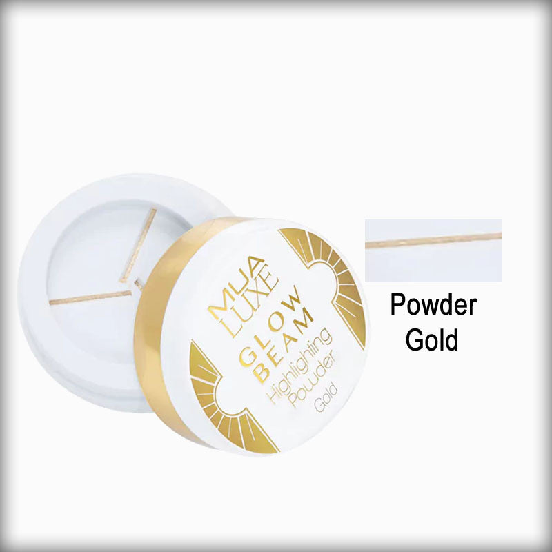 MUA Luxe Glow Beam Highlighting Powder Gold 078